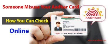 someone misuse my Aadhar card